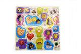 Emoji stickers op vel