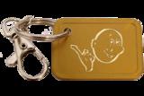 Gouden Ankermunt Sleutelhanger