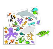 Wandpaneel Magische Onderzeeër - Stickers