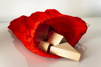 Tast memory - houten blokken