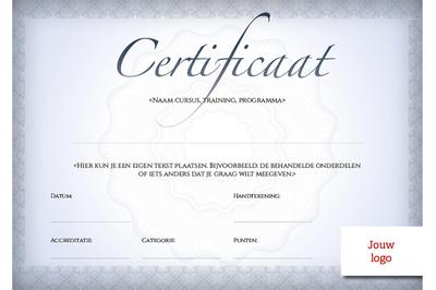 Certificaat volwassenen - opzet 1